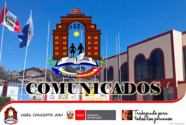 COMUNICADO A DIRECTORES DEL ÁMBITO DEL DISTRITO DE POMATA – REUNIÓN FENCYT «EUREKA» 2019