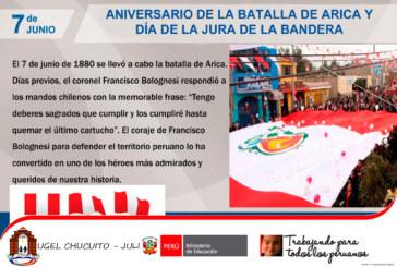 7 de junio. Aniversario de la Batalla de Arica y la renovación del Juramento de fidelidad a la bandera.