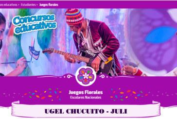 CRONOGRAMA – JUEGOS FLORALES 2019. ETAPA PROVINCIAL.
