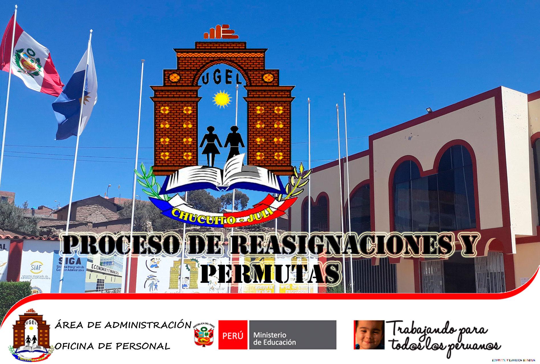 PROCESO DE REASIGNACIÓN DE LOS PROFESORES EN EL MARCO DE LA LEY 29944 -LRM – POR INTERÉS PERSONAL Y UNIDAD FAMILIAR 2019.