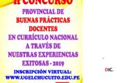 RESULTADOS DE II CONCURSO PROVINCIAL DE BUENAS PRACTICAS DOCENTES EN CNEB