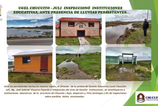 EVALÚAN POSIBLES DAÑOS EN INSTITUCIONES EDUCATIVAS DE UGEL CHUCUITO- JULI.