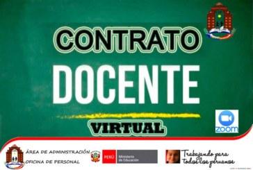 CONVOCATORIA: CONTRATO DOCENTE VIRTUAL – COMUNICADO 023-2020-UGEL.CHJ/C.C.DOC.