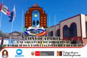 PROCESO DE ENCARGO DE ESPECIALISTA EN EDUCACIÓN PARA LA SEDE ADMINISTRATIVA DE LA UGEL CHUCUITO JULI – 2020   ETAPA II – SELECCIÓN ESPECIAL – VIRTUAL