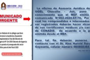 COMUNICADO ASESORÍA JURÍDICA