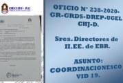 SRES. DIRECTORES DE II.EE -EBR – COORDINACIONES COVID 19