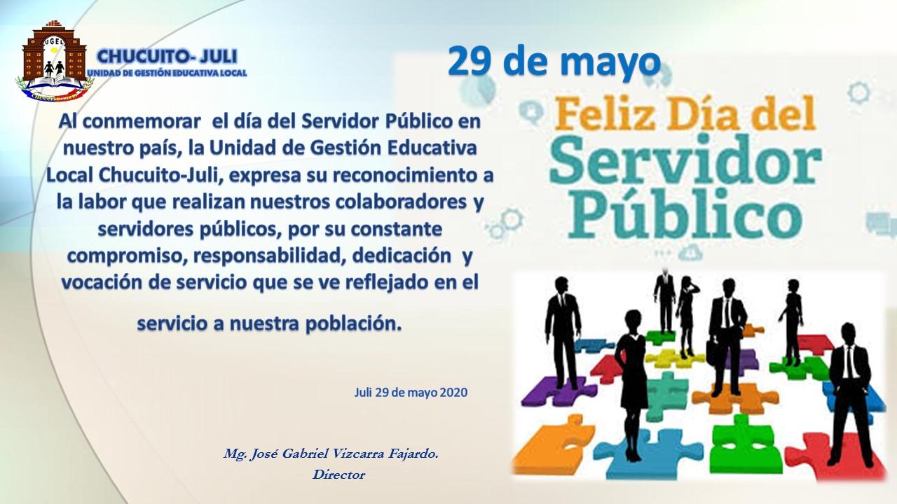 FELIZ DÍA DEL SERVIDOR PÚBLICO!!!