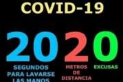 CERO EXCUSAS ANTE EL COVID 19
