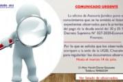 LISTADO DE EXPEDIENTES OBSERVADOS PARA LA PRIORIZACIÓN DEL PAGO DE LA DEUDA SOCIAL DEL 30 Y 35 %